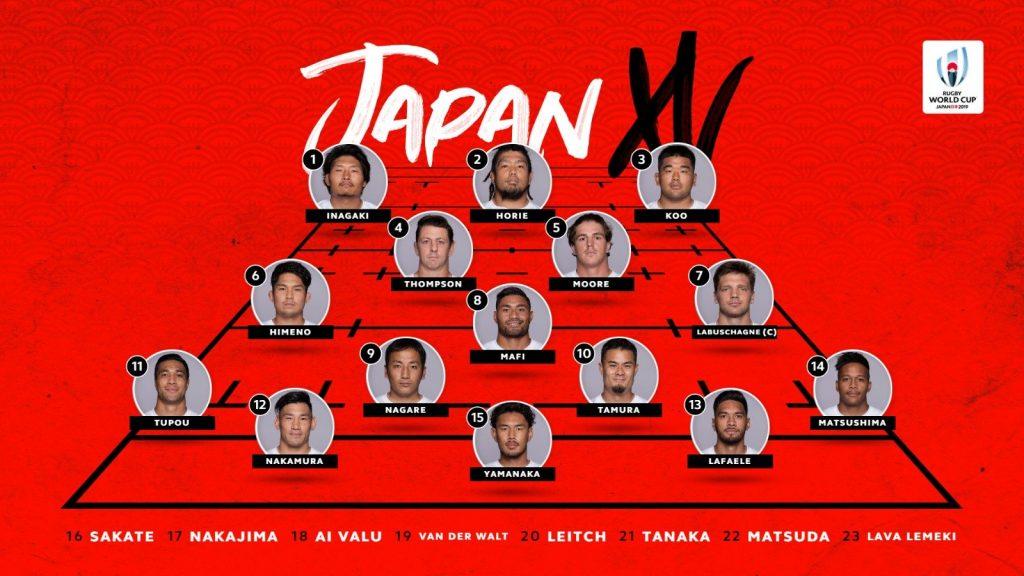 日本代表スコッド