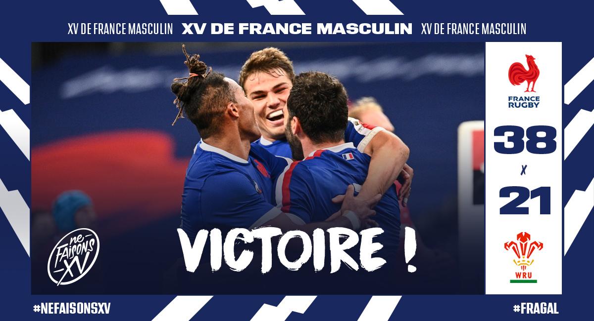 デュポンが躍動!38-21でフランスがウェールズを下す