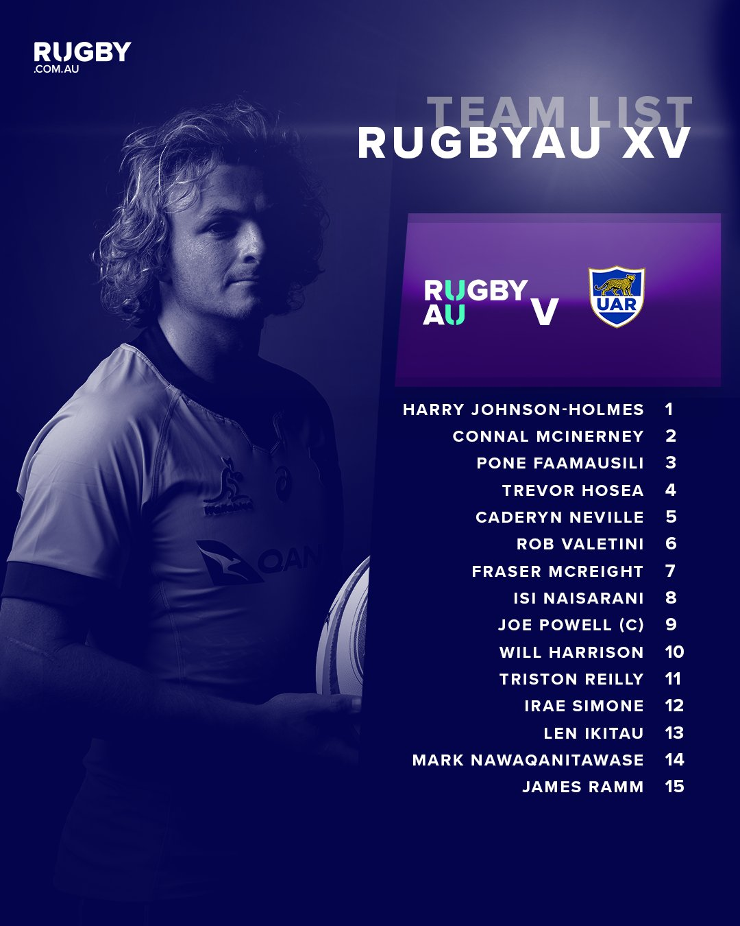 RugbyAU Selection XV team