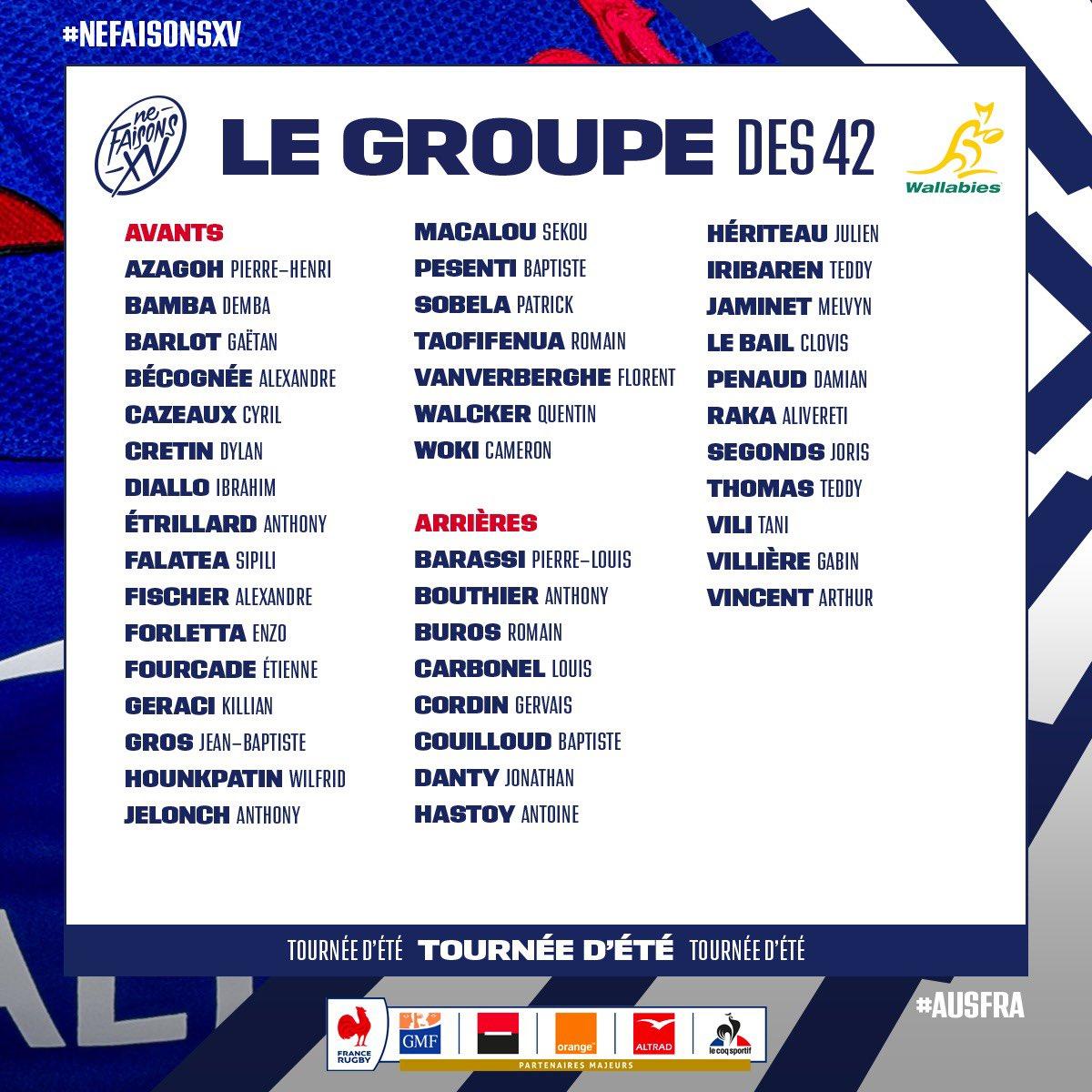フランス代表42人vsワラビーズ